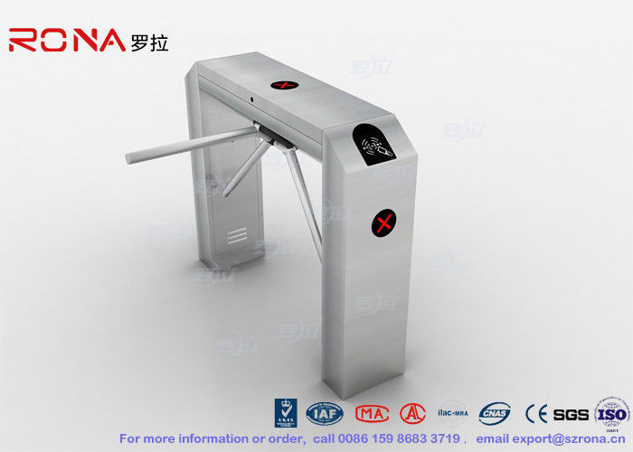 Public Areas Tripod Barrier Gate , Turnstile Entry Systems Semi Automatic Access Control