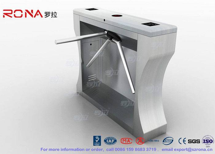 304 Stainless Steel Revolving Pedestrian Turnstile Gate Multi - Alarm Rotate Automatically