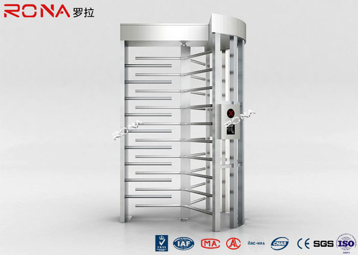 CE Single Passage Full Height Turnstile Stainless Steel For Strict Access Control